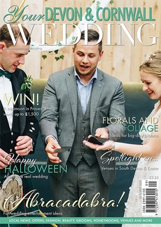 Cover of the September/October 2021 issue of Your Devon & Cornwall Wedding magazine