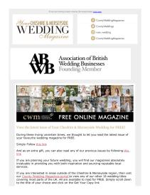 Your Cheshire & Merseyside Wedding magazine - February 2021 newsletter
