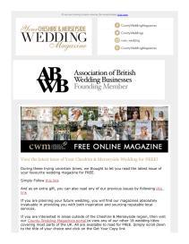 Your Cheshire & Merseyside Wedding magazine - April 2021 newsletter