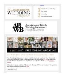 Your Cheshire & Merseyside Wedding magazine - September 2021 newsletter