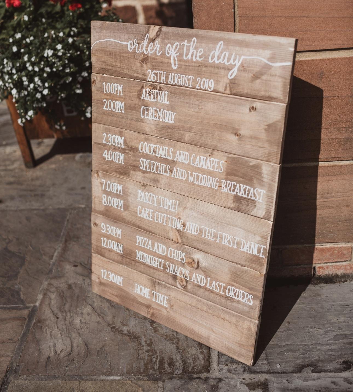 Oak veneer tableplan