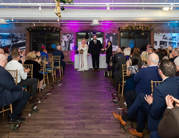 Karen and David's ceremony at the Merseyside Maritime Museum