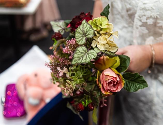 bride karen's bouquet