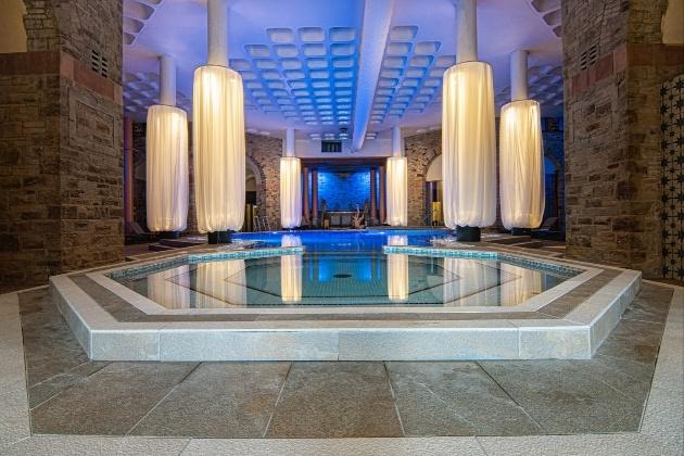newly refurbished indoor spa faciliites at Shrigley Hall