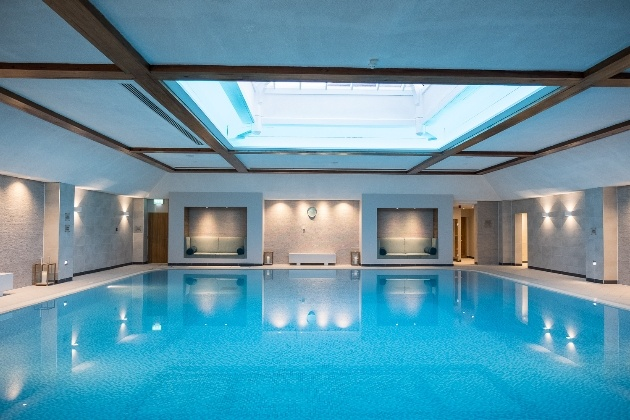 swimming pool at the spa at cottons hotel