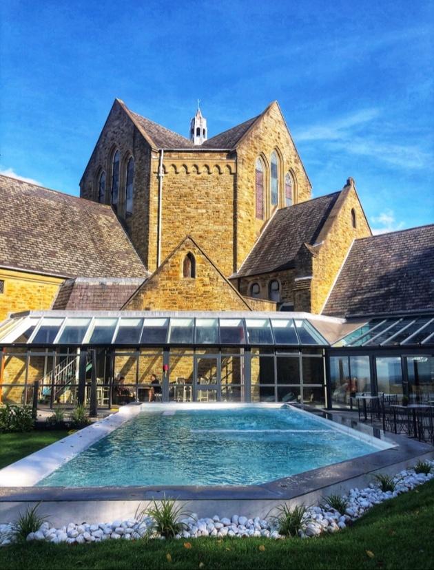 Shrigley Hall former monastery and infinity pool