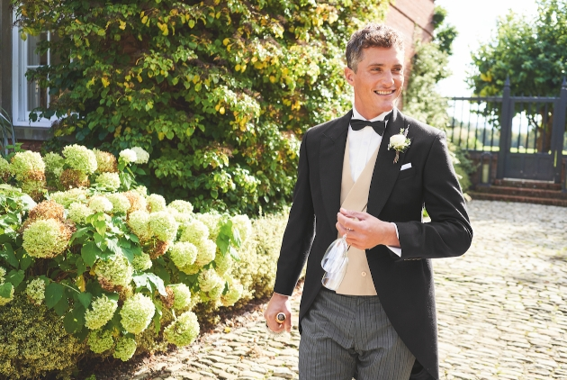 man in traditional wedding morning suit