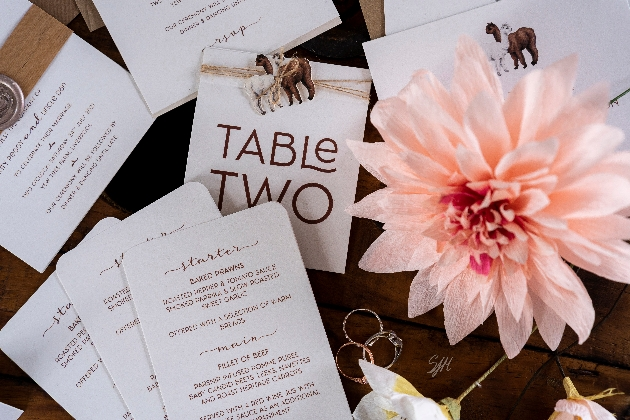 Rustic wedding stationery design by Dragonfly Couture Stationery